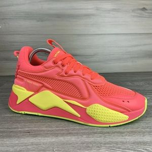 NWT Puma RS-X Soft Case Pink Alert Yellow sneakers